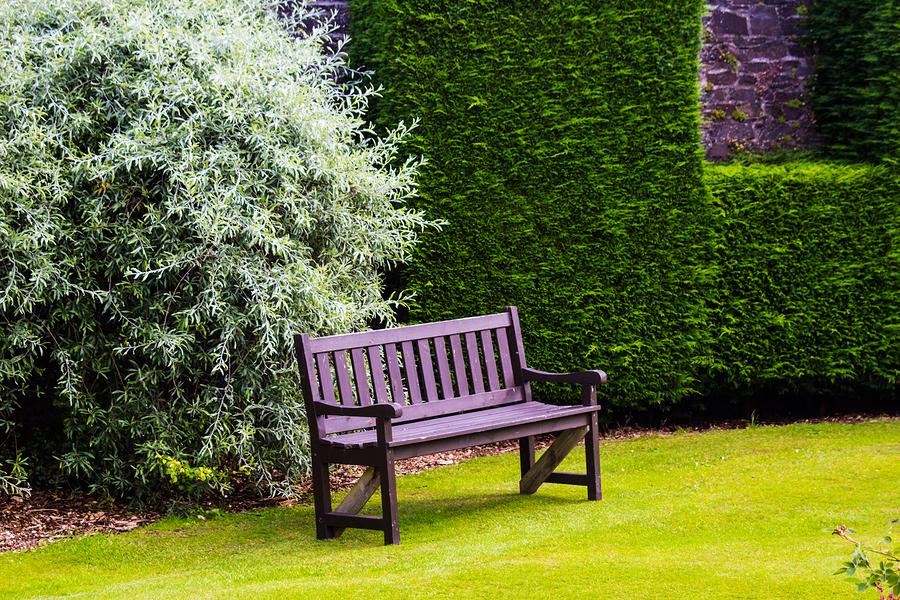 klassische Gartenbank aus Holz