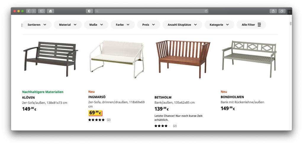 Es gibt nicht nur eine IKEA Gartenbank zu kaufen, sondern eine große Auswahl an verschiedenen Designs. Die Angebote der IKEA Gartenbänke bieten in verschiedener Aufmachung, Größe und Farbe die Möglichkeit, sie in verschiedene Garten-Gestaltungen einzufügen.